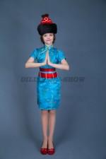 5370. Бурятский костюм для девочки